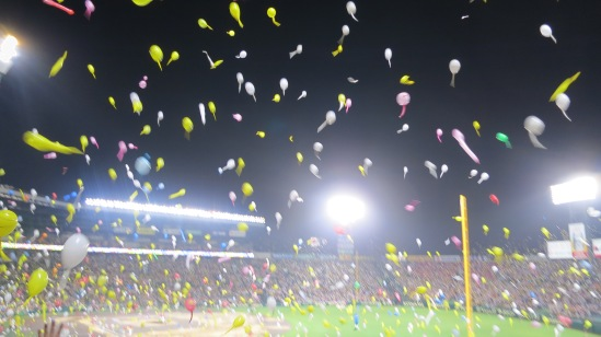 Watching hundreds of balloons fly into the air is a magical thing.